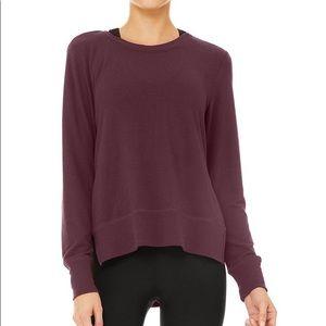 Alo Yoga Glimpse Long Sleeve Top Purple